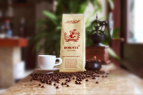 Cà phê hạt rang Robusta - AnTháiCafé 200g