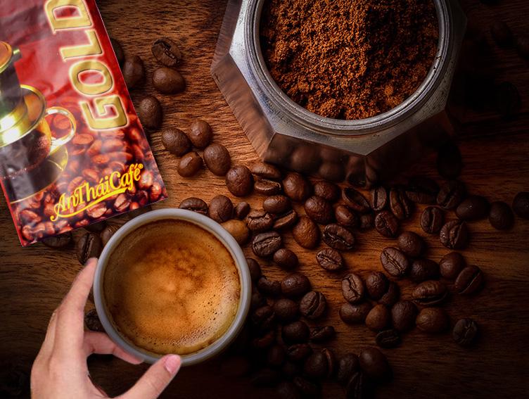 cà phê bột gold coffee 500g AnTháiCafé