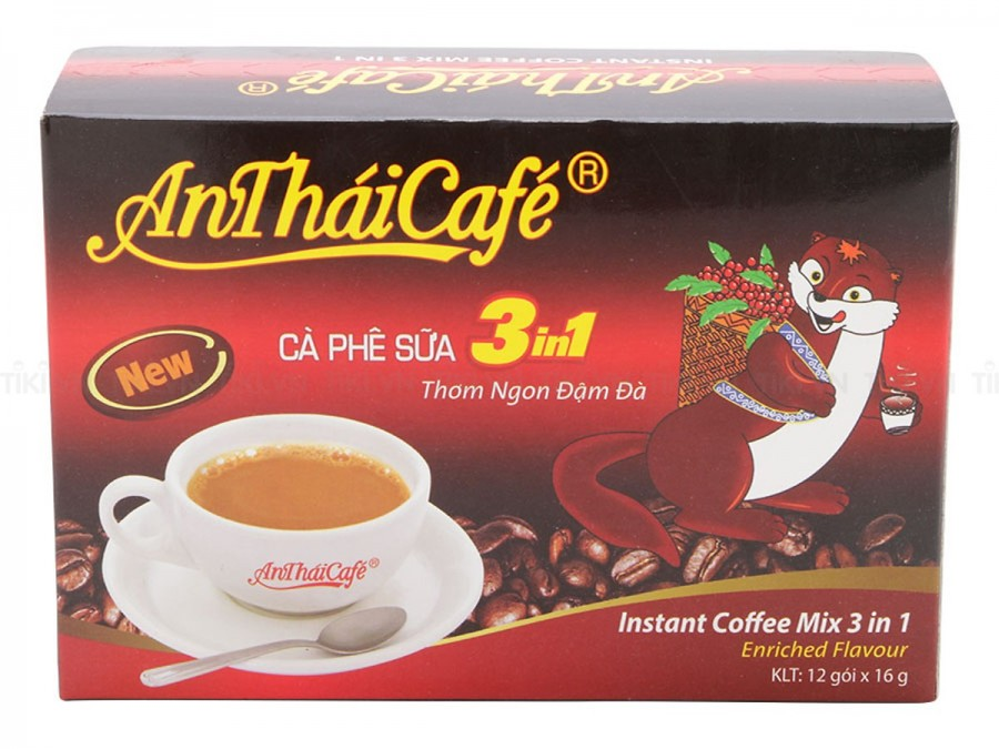 Cà phê sữa 3in1 AnThai hộp 12 gói